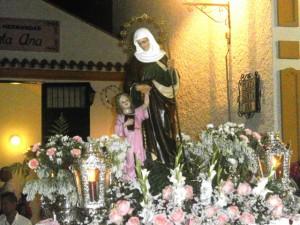 Santa Ana de regreso a su Templo
