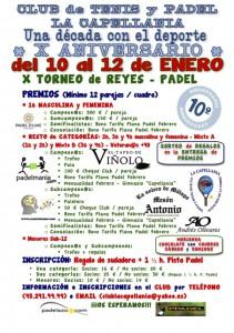 TORNEO PADEL X ANIVERSARIO CAPELLANIA - PREMIOS 2014