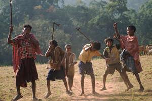 Los dongria kondhs están celebrando su victoria contra el gigante minero británico Vedanta Resources. © Toby Nicholas/Survival