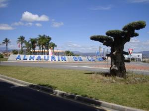 Rotonda entrada Alhaurin
