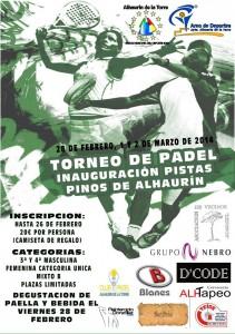 cartel torneo de padel pinos
