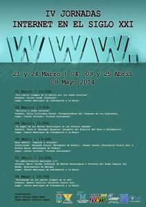 cartel jornadas internet siglo XX1