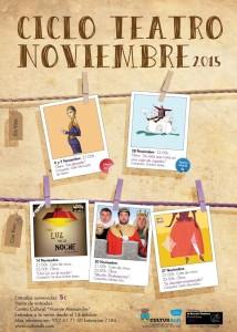 ciclo teatro noviembre