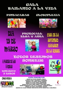 gala benefica domingo 13 marzo